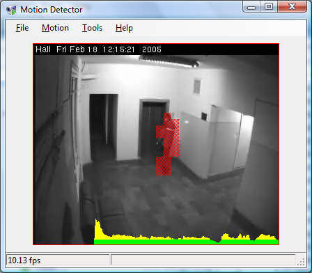 Motion Detector sample application